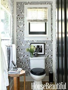 Black hues for small spaces such as the powder room may be an old theme, but this design concept is being recycled as a favorite bathroom trend for 2014. Not only do black hues help make powder rooms feel larger, but it also gives the space an elegant yet stylish feel.