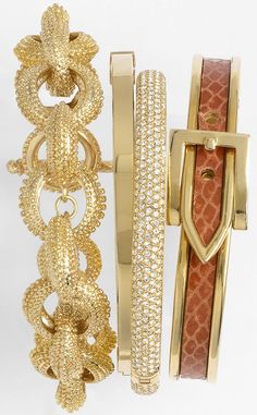 Nadri, Cara Accessories & Michael Kors Bangles .♥✤ | Keep the Glamour | BeStayBeautiful