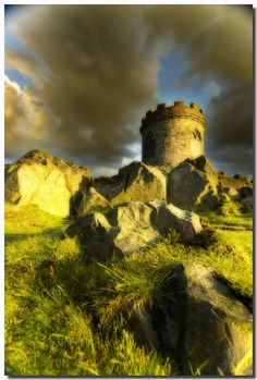 Old John, a folly atop the highest hill in Bradgate Park, Leicestershire, England.