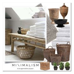 """""""Minimalism - Bathroom"""" by pmcdl ❤ liked on Polyvore featuring interior, interiors, interior design, home, home decor, interior decorating, nuLOOM, Jayson Home, DESTIN and bathroom"""