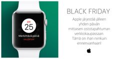 Applen Musta Perjantai ostostapahtuma järjestetään jälleen! www.apple.com #potkukelkkacom