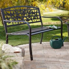 Coral Coast Birds and Flowers 4-ft. Curved Back Garden Bench - $109.98 @hayneedle.com.com For kitchen bench seating? Add cushions and throw pillows...x2