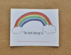 Rainbow Book Plates This Book Belongs To Labels by emilyanndesigns, $3.50
