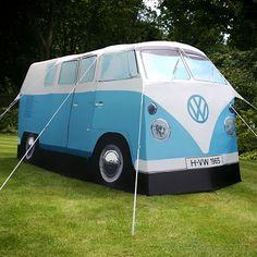 replica VW camper van tent which sleeps 4