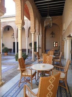 SPAIN / ANDALUSIA / Hotels - Paradores de Turismo de España. A parador, in Spain is a kind of luxury hotel, usually located in a converted historic building. The hotels are often located in adapted castles, palaces, fortresses, convents, monasteries and other historic buildings. They add to the attractions of heritage tourism and provide uses for large historic buildings.Parador de Carmona. Córdoba.