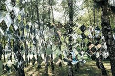 Mirage Pavilion mirror art in a Budapest forest.       Gloucestershire Resource Centre http://www.grcltd.org/scrapstore/