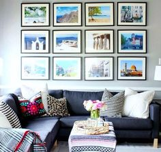 Wall display ideas for living room family room the reveal apartment decor home travel wall display Room Wall Decor, Living Room Decor, Living Rooms, Room Art, Travel Gallery Wall, Travel Wall Decor, Photos Voyages, Family Pictures, Travel Pictures