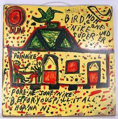 Willie Jinks Bird Non Gone. Zeichnung des Amerikanischen Art Brut Künstler Willie Jinks, geboren 1921