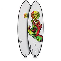 A Prancha de surf Santa Cruz - Pumpkin Seeds - Rasta Hands é perfeita para surfar ondas pequenas ou encarar tubos em alta velocidade.  Além do desenho muito louco ela possui também uma assinatura do Doug Haut.
