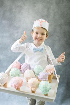 Ice cream man: http://www.stylemepretty.com/living/2015/10/01/diy-halloween-costume-ice-cream-man/ | Photography: Ruth Eileen - http://rutheileenphotography.com/