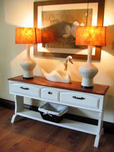 country entryway table