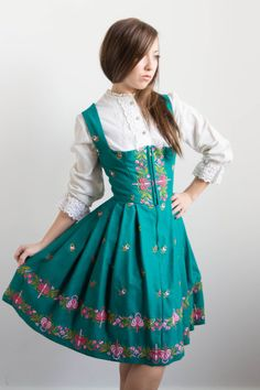 Vintage Authentic German/Bavarian Dirndl by PearlsDreamVintage, $145.00    Available at Pearlsdreamvintage.com for Etsy    Modeled by Me :)
