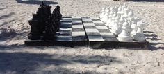 Jumbo size #beach #chess set in front of Hilton Clearwater Beach.