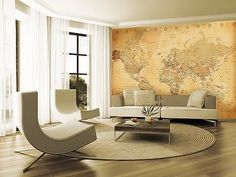 74 in x 106 in world map wall mural mural for home office world map wall mural mural for home office murals for home office pinterest wall murals and products gumiabroncs Gallery
