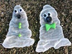 Halloween crafts: Glue ghosts....something 2 do with ur kids..... have fun