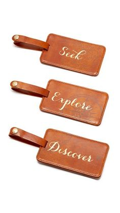 Gift Boutique Seek Explore Discover Luggage Tag Box Set