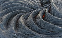 The Earth Is Alive | Pahoehoe lava is just starting to cool. This is the classic roping & banding kind~~ Taken February 10th, 2011. Hawaii