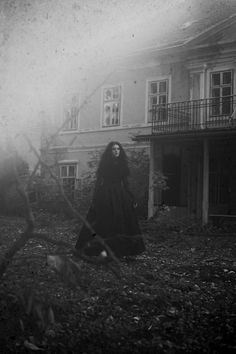 Dark photography, gothic scene