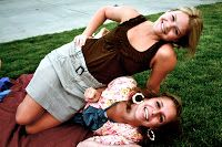 Flashback Photo of Witney Carson and her cousin/future bridesmaid, Ally.