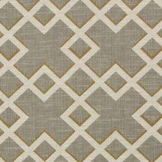 Shadow Trellis Fabric - Citrine