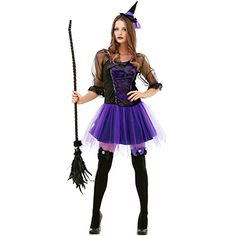 Spellbinding Sorceress Womens Halloween Costume Sexy Witch Classic Fairytale Dress ** Discover a lot more by visiting the photo link. (This is an affiliate link). Scary Costumes, Creative Halloween Costumes, Halloween Outfits, Adult Costumes, Costumes For Women, Costume Halloween, Halloween Ideas, Alien Halloween, Witch Costumes
