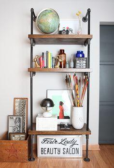 DIY: pipe shelf