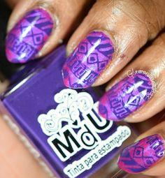 Tribal - Stamping Saturdays #7  #nails #naturalnails #almondnails #nailart #naildesigns #stamping #stampingsaturdays #stampingnaildesigns #magenta #shimmer #violet #chinaglaze #mundodeunas #bundlemonster #notd #nailpolish #nailpolishaddict #nailpolishlover #nailswag #nailsoftheday #nailartaddict #nailartlover #nailpolishblogger #beautyblogger Bundle Monster, Almond Nails, China Glaze, Natural Nails, Swag Nails, Cute Nails, Magenta, Class Ring, Stamping