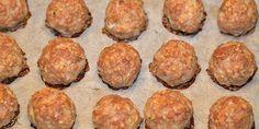 Super nemme frikadeller med havregryn, som bliver bagt i ovnen og dermed bliver sundere end de traditionelle pandestegte af slagsen.