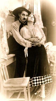 """Charlie Chaplin, Edna Purviance  - """"The Fireman"""" (c.1916)"""