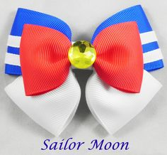Sailor Moon Hair Bow ( Sailor Moon ) by SketchyStudios on Etsy https://www.etsy.com/listing/235546944/sailor-moon-hair-bow-sailor-moon