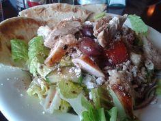 Greek Salad w/ Chicken @ Greek Grill.  $ 10.25 plus tax