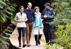 Led by a local guide, the royal visitors are given a tour of the stunning Great Bear Rainforest in Bella Bella, Canada
