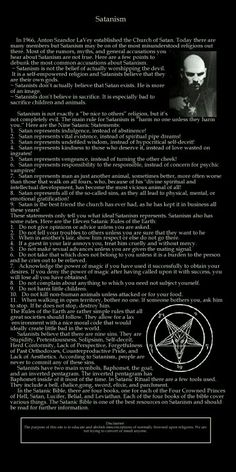 The adversary provides opposition and resistance for growth and development // I wanted to pin this because satanists are greatly misunderstood and I only want equality for everyone (: Satanic Rules, Satanic Art, Magick, Witchcraft, Wicca, Laveyan Satanism, The Satanic Bible, Book Of Shadows, Mythology