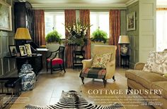 English Country Style living room featured in Huse and Home decor magazine from UK
