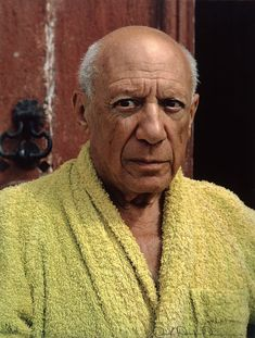 Picasso on the front steps of Mas Notre-Dame-de-Vie in Mougins, 1959 He met Picasso in 1956 and they remained close until the artist's death in 1973