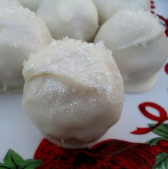 snow ball or wedding cake truffles