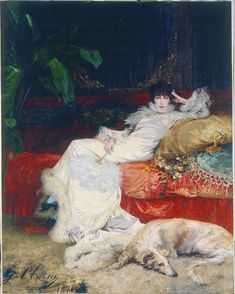 'Portrait of Sarah Bernhardt' (1876) by Georges Clairin