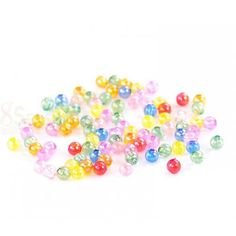 Wholesale Acrylic Spacer Beads Round At Random Color AB Color from China Supplier Acrylic Beads, Color Mixing, Sprinkles, Abs, China, Random, Crunches, Abdominal Muscles, Killer Abs