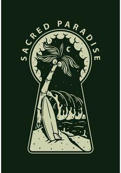 Creative T Shirt Design, Beach Illustration, Badge Design, Sea Art, Graphic Design Inspiration, Screen Printing, Art Drawings, Artwork, Prints