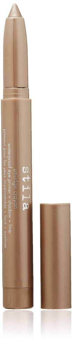 line lower lashes with stila Smudge Crayon, Smoke