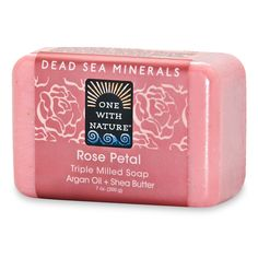 Dead Sea Mineral Soap - Rose Petal by ONE WITH NATURE