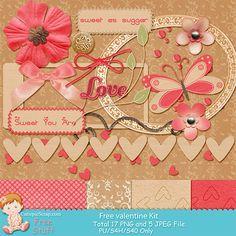 """New Free Scrap Kit Mini """"Sweet Valentine"""""""