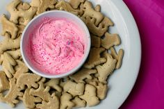 Pink Cake Batter Dip. Perfect for showers and girls nights.
