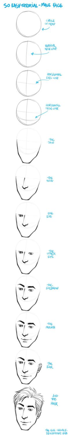 TUTO - easy to draw male by the-evil-legacy on DeviantArt