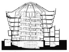frank lloyd wright floor plans Guggenheim New York section Frank Lloyd Wright Famous Architecture, Museum Architecture, Architecture Drawings, Historical Architecture, Contemporary Architecture, Museum Plan, Art Museum, Jorn Utzon, Section Drawing