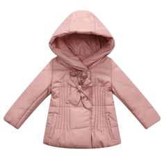 Amazon.com: Richie House Little Girls' Padded Jacket with Rosette Accents Rh0908: Clothing