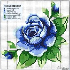 This Pin was discovered by Nat Cute Cross Stitch, Cross Stitch Rose, Cross Stitch Flowers, Cross Stitch Charts, Cross Stitch Designs, Cross Stitch Patterns, Cross Stitching, Cross Stitch Embroidery, Hand Embroidery