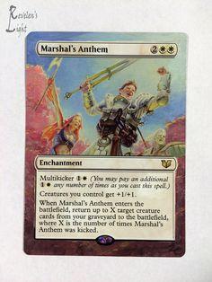 Marshal's Anthem - Full Art - MTG Alter - Revelen's Light Altered Art Magic Card