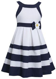 Bonnie Jean® Nautical Dress - Girls found at Nautical Party Dresses, Nautical Dress, Holiday Outfits, Holiday Dresses, Holiday Clothes, Little Girl Dresses, Girls Dresses, Kids Frocks, Resort Dresses