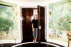 Tory Burch's Upper East Side foyer is the epitome of style...